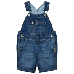 GAP 1969 Denim Short Overalls Medium Wash