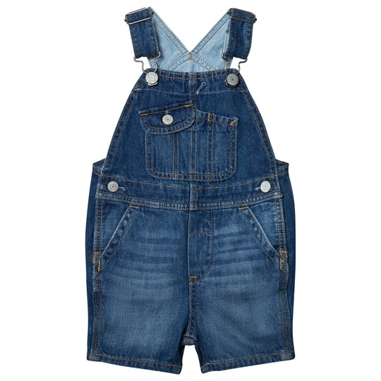 GAP 1969 Denim Short Overalls Medium Wash MEDIUM WASH
