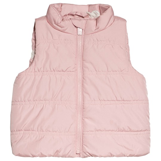 GAP Icing Pink Sweetheart Puffer Vest Pale Pink