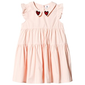 Image of Hootkid Pink Tiered Frill Embroidered Collar Frill Sleeve Dress 12 years (1243961)