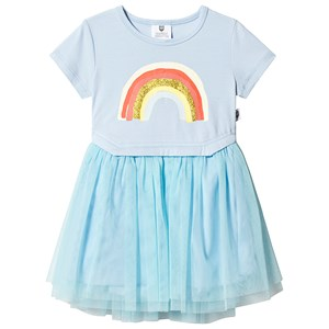 Image of Hootkid Ice Blue Rainbow Tutu Dress 1 år (1243839)