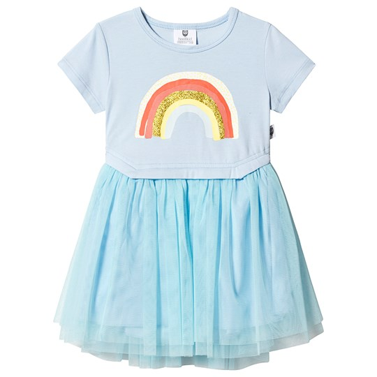Hootkid Ice Blue Rainbow Tutu Dress Pink