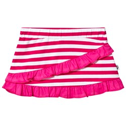 Hootkid Pink and White Stripe Frill Detail Skirt