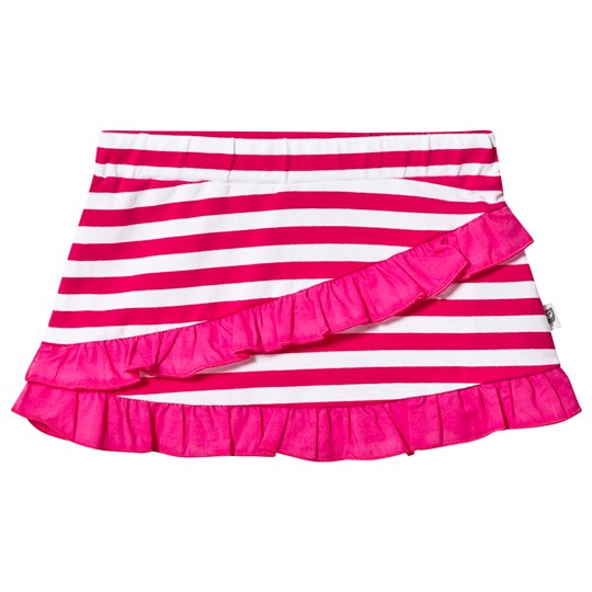 Hootkid Pink and White Stripe Frill Skirt Pink/ White Stripe