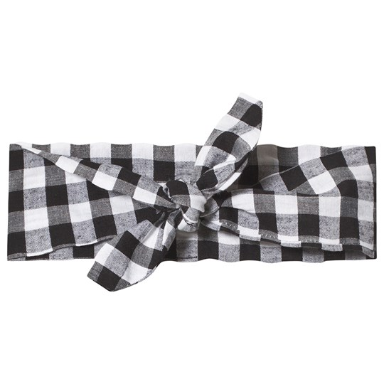 Hootkid Black Check Headband Black Check
