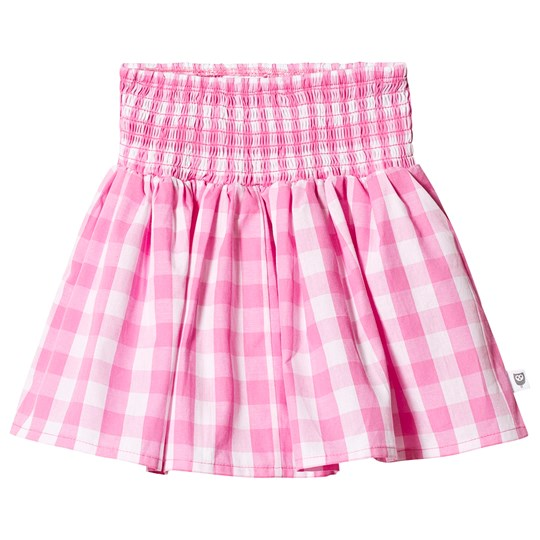 Hootkid Pink Check Skirt Candy Check