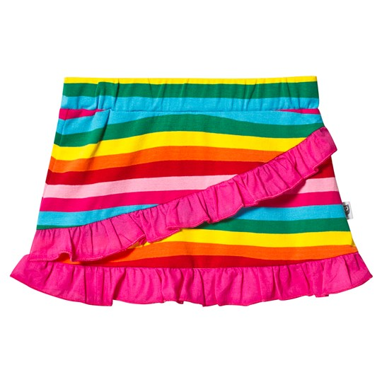 Hootkid Pink Rainbow Stripe Frill Skirt Candy Stripe