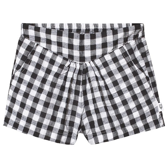 Hootkid Black Check Shorts Black Check