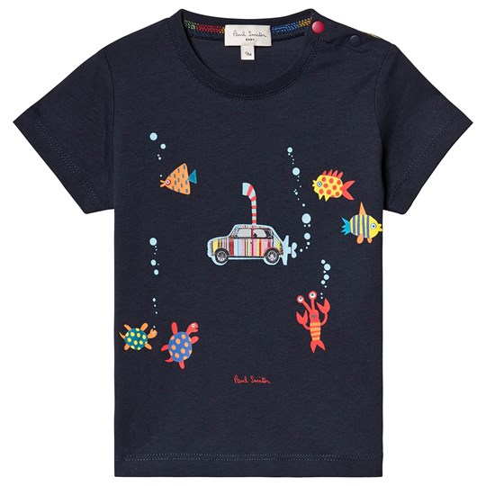 Paul Smith Junior Navy Underwater Mini Applique Tee 492
