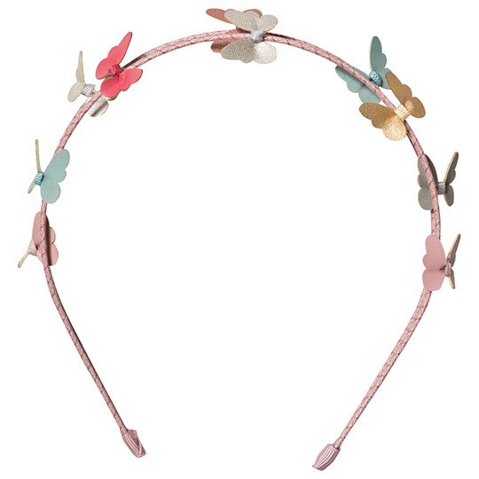 Mimi & Lula Metallic Butterfly Double Banded Headband 23