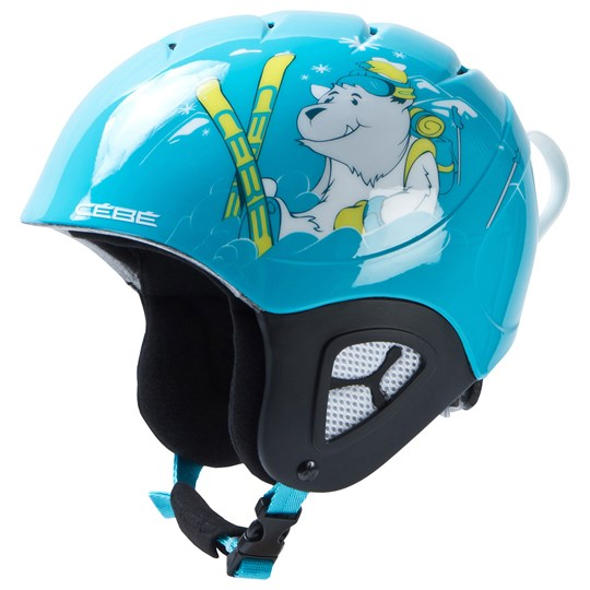 Cebe Pluma Junior Ski Helmet Shiny Blue Bear