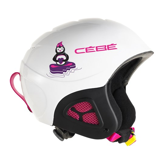 Cebe White Pluma Junior Basics Helmet WHITE PENGUIN