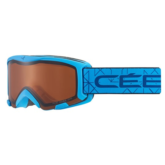 Cebe Bionic Ski Goggles Matte Blue/Orange Lens Matt Blue