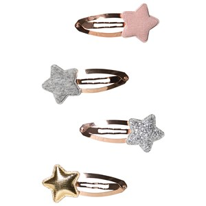 Image of Mimi & Lula 4-Pack Glitter/Metallic Star Hair Clips One Size (1319002)