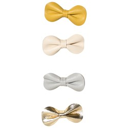 Mimi & Lula 4-Pack Metallic Bow Hair Clips
