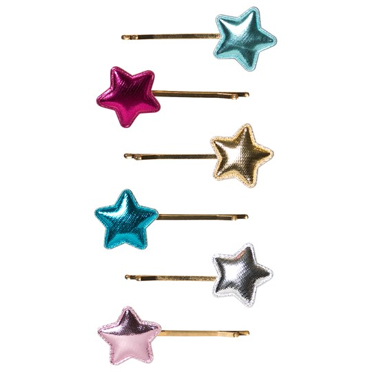 Mimi & Lula 6-Pack Metallic Star Hair Grips 23