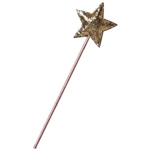 Image of Mimi & Lula Pink Fairy Wand with Gold Sparkly Star (3125341729)