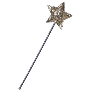 Image of Mimi & Lula Purple Fairy Wand with Gold Sparkly Star (3125341731)