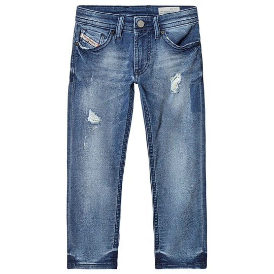 Diesel Blue Distressed Thommer Slim Skinny Jog Jeans K01