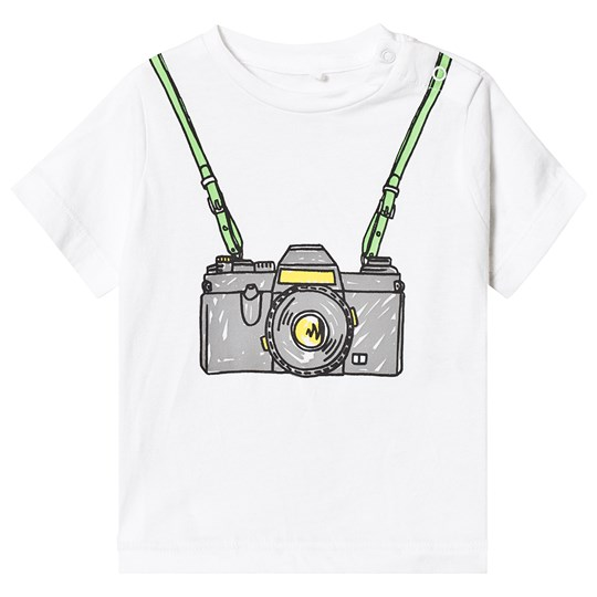 Stella McCartney Kids White Camera Print Tee 9082 - White