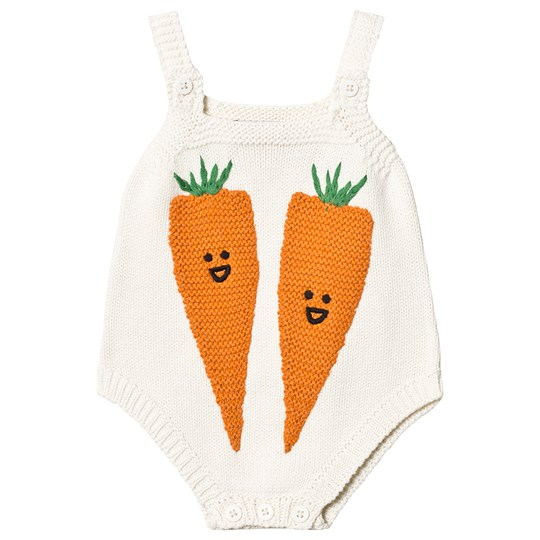 Stella McCartney Kids Off White Carrot Romper 9232 - Cloud