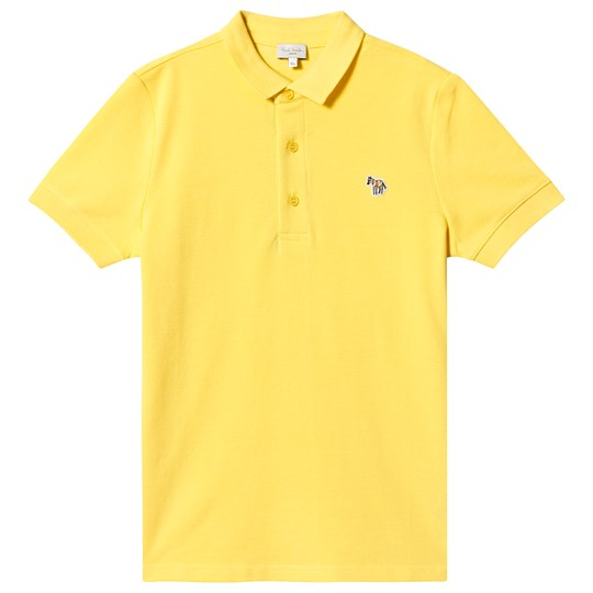 Paul Smith Junior Yellow Pique Polo with Zebra Patch 724