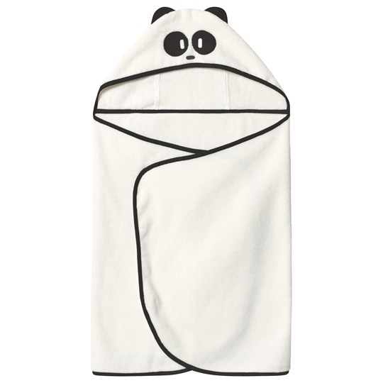 Mori White Panda Toddler Bath Towel Panda