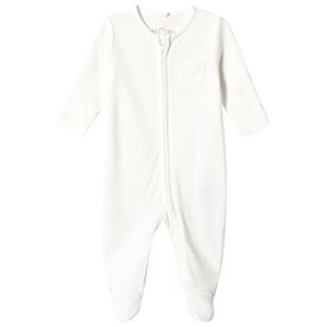 Image of Mori White Zip Up Footed Baby Body 3-6 months (1316901)