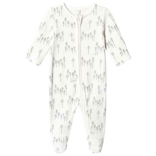 Mori Forest Print Zip Up Footed Baby Body Forest