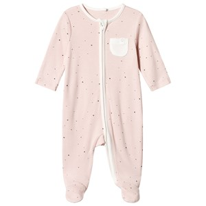 Image of Mori Pink Stardust Zip Up Footed Baby Body Newborn (1316913)