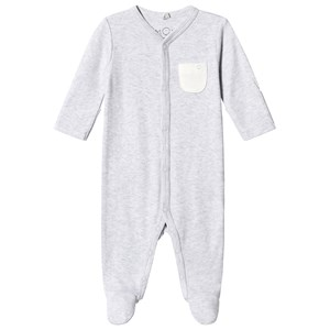 Image of Mori Grey Footed Baby Body 9-12 months (1316938)