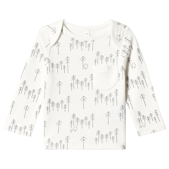 Mori White Forest Long Sleeve Tee Forest