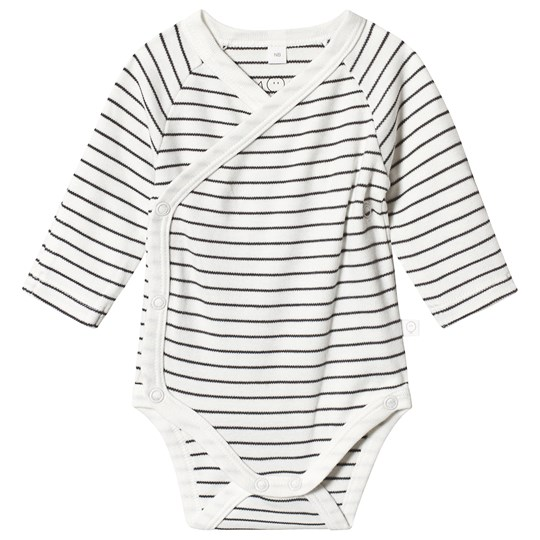 Mori Grey Stripe Wrap Body Grey Stripe