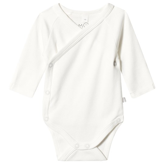 Mori White Long Sleeve Organic Cotton Kimono Body White