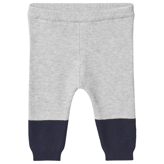 Mori Grey and Navy Knitted Pants Grey & Navy