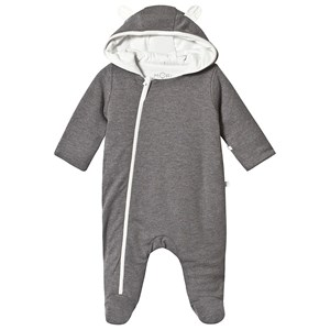 Image of Mori Charcoal Footed Onesie 0-3 months (3125346681)