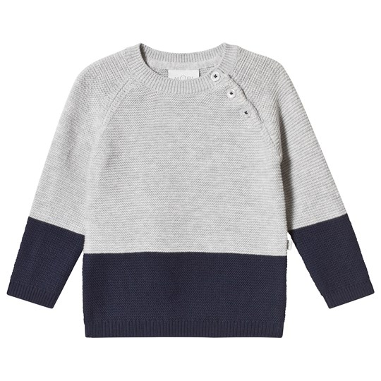 Mori Grey and Navy Sweater Grey & Navy