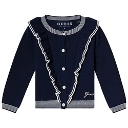 Guess Navy and White Cardigan