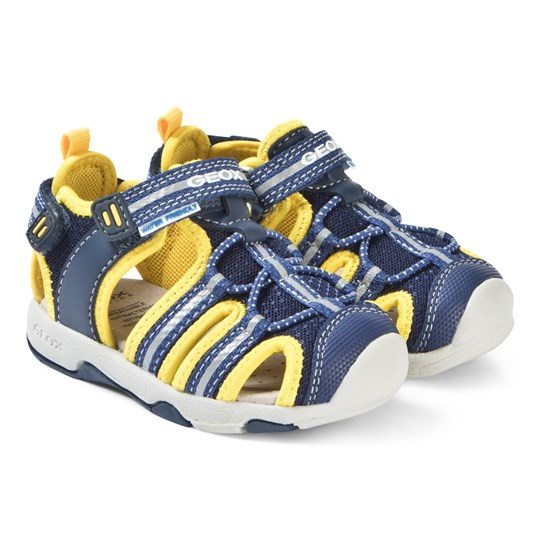 Geox Navy and Yellow Sand Sandals C0657