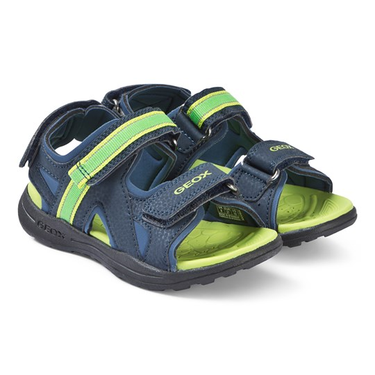 Geox Navy and Lime Gleeful Sandals C0749
