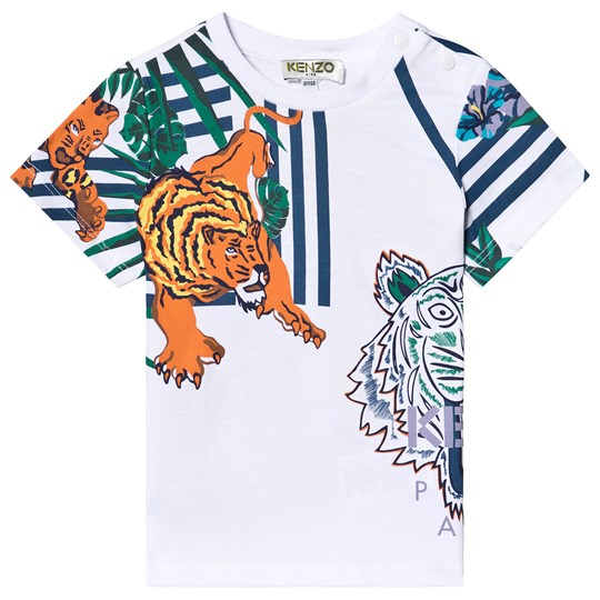 Kenzo White Icons and Tiger Tee 01