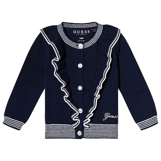 Guess Navy and White Cardigan FABL