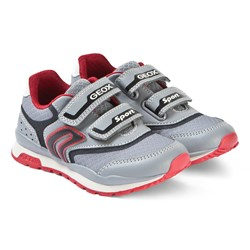 Geox Grey/Red Pavel Sneakers