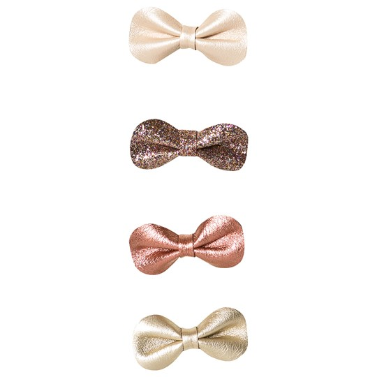 Mimi & Lula 4-Pack Metallic Bow Hair Clips 08