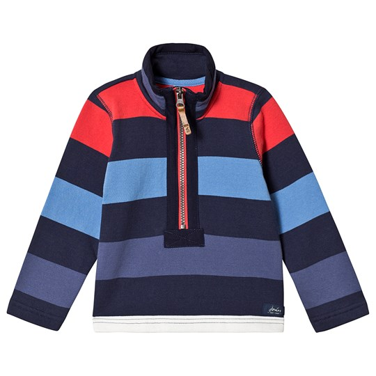 Tom Joule Multi Stripe Half Zip Sweatshirt Blue Red Stripe