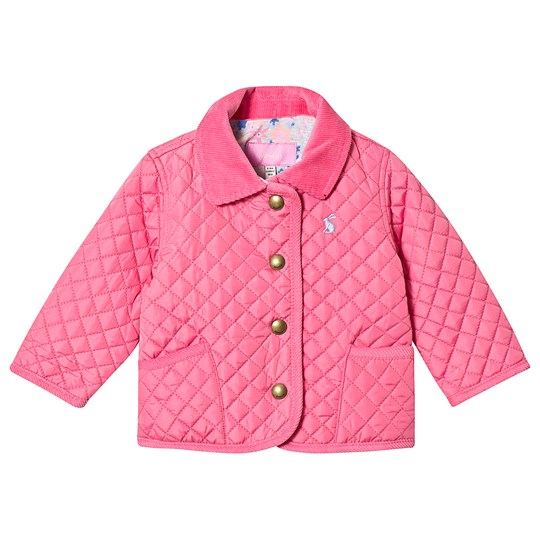 Joules Hot Pink Quilted Jacket Hot Pink