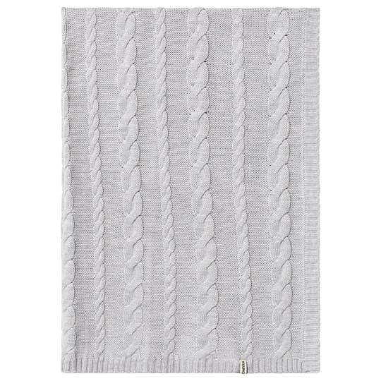 Kuling Cable Knitted Blanket Merino Wool Grey