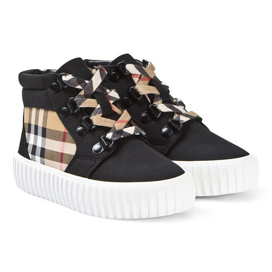 Burberry High Top Sneakers Svart/Vintage Check A1189