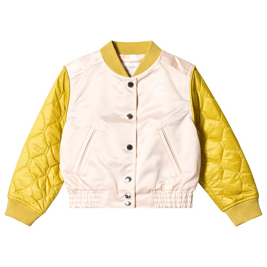 Burberry Pink and Yellow Mona Bomber Jacket A2182