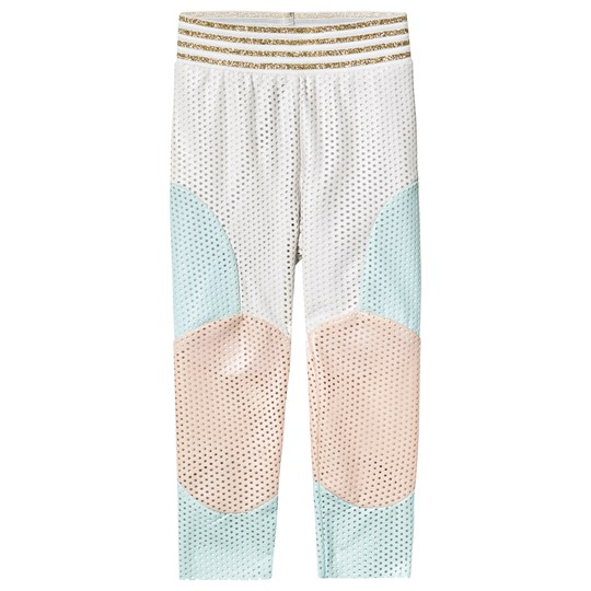 Raspberry Plum White, Blue, Pink Patch Enna Leggings White